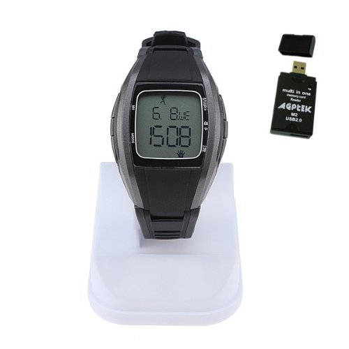Wireless Calories Counter Heart Rate Monitor Stop Watch Plus AGPtek USB 2.0 All-in-one Card Reader