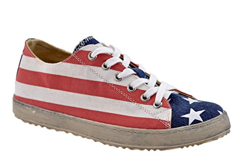 F. Milano Usa Flag Low Sportive Alte Nuovo Tg 36 .