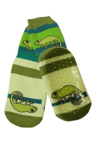 Weri Spezials Baby Voll-ABS Socke Chamealeon Motiv in Grasgruen Gr.19-22 (12-24 Monate)
