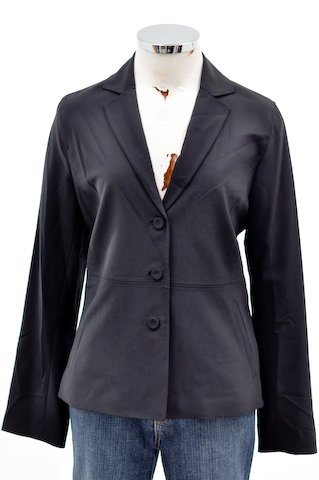 Eileen Fisher Black Long Sleeve Blazer Jacket