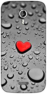 Snoogg Red Drop Heart Designer Protective Back Case Cover For Micromax A116