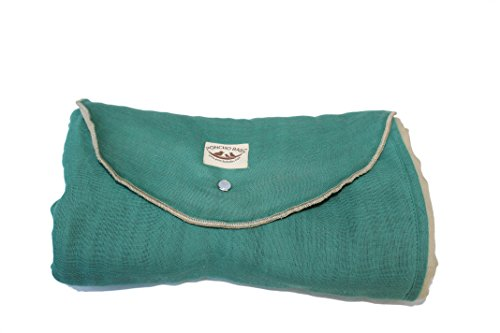Poncho Baby Organic Blanket, Roly Blanket, Emerald/Beige