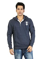 Aliep Stylish Dark Blue Solid Full Sleeves Sweat Shirt For Men | ALP1546