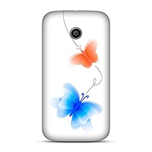 INKIF Cute Butterflies Abstract Designer Case Printed Mobile Back Cover for Motorola E (1st Generation)(Multicolor)