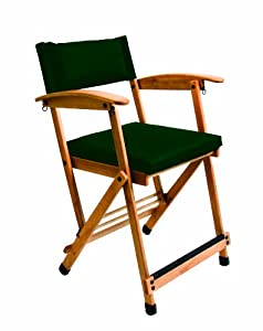 Hollywood Chairs by Totally Bamboo 27-Inch Elm Director Chair, Green