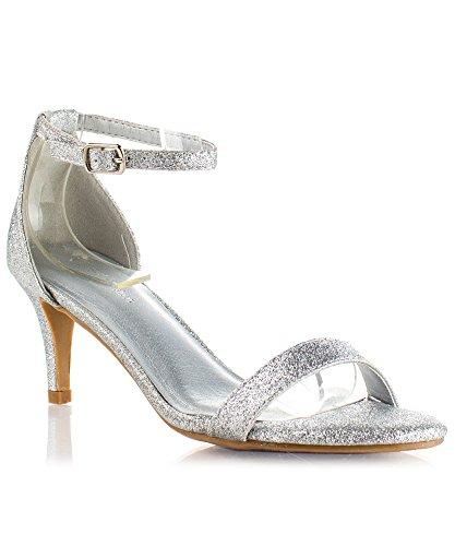 ROF Cynthia-01 Women's Pumps ( Silver Glitter Size 8 )