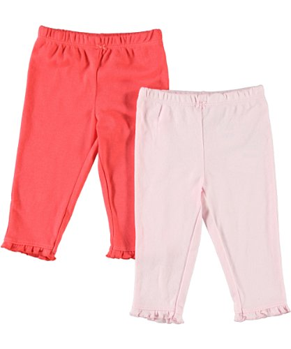 Carter'S Baby Girls' 2-Pack Pants - Pink/Poppy - 24 Months front-853800