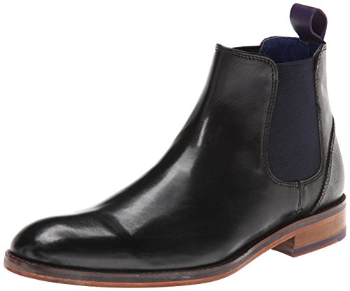 Ted Baker Men's Camroon Chelsea Boot, Black Leather, 11.5 M