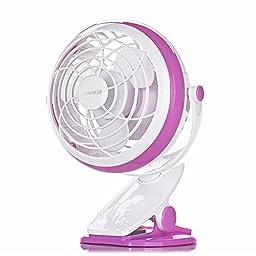 Clip On Desk Fan USB Table Fans (USB OR Battery Powered, Quietness)(violet)