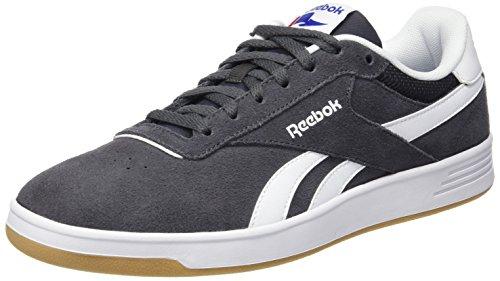 Reebok Royal Slam SDE-Scarpa Da Tennis, Da Uomo, Multicolore (Coal/White/Gum), 40