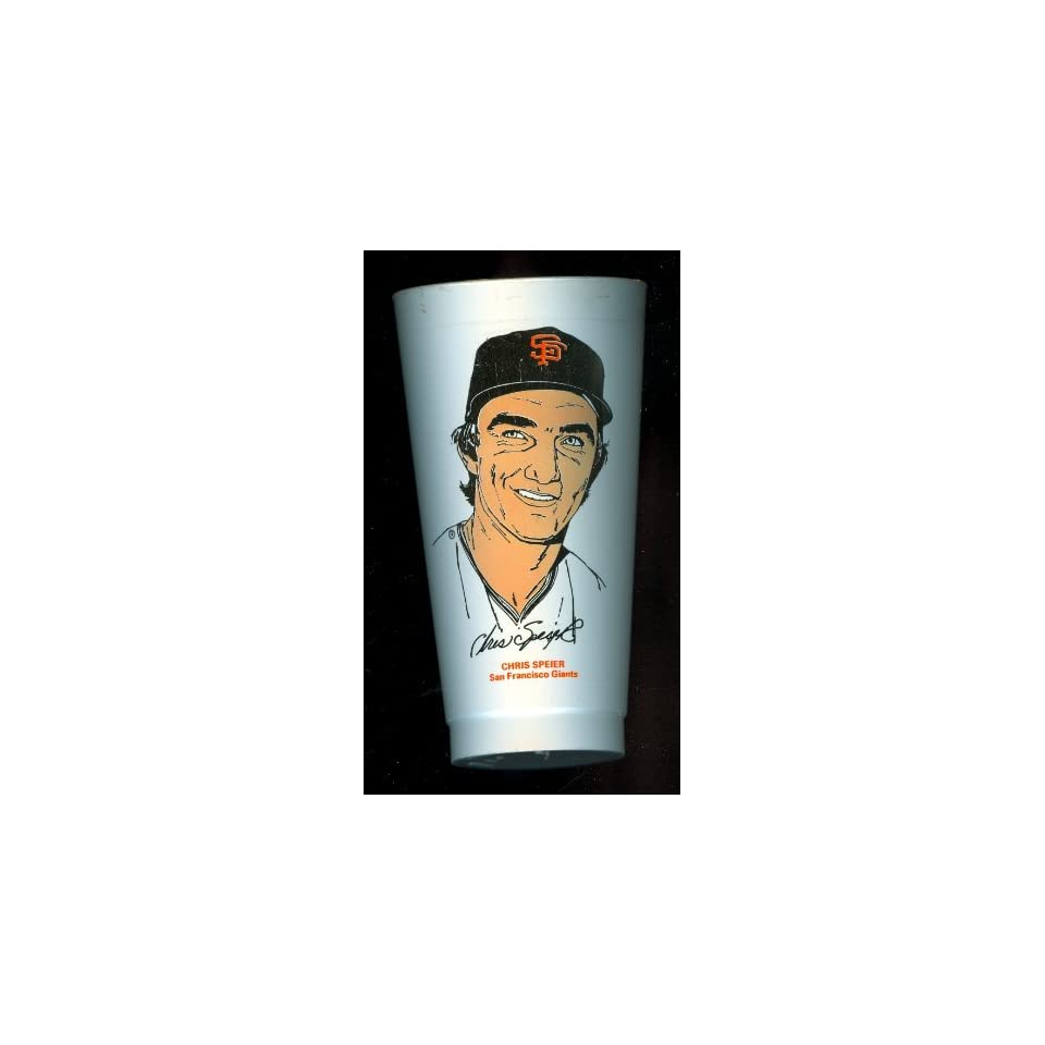 1973 Chris Speier San Francisco Giants 7 Eleven Baseball Cup