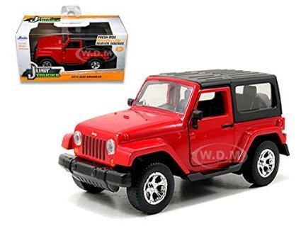 2014 Jeep Wrangler Red 1/32 by Jada 97313 (Red Jeep compare prices)