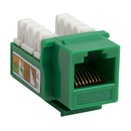 Intellinet CAT.6 RJ45 110-Type Keystone Jack, Green, 210638 picture