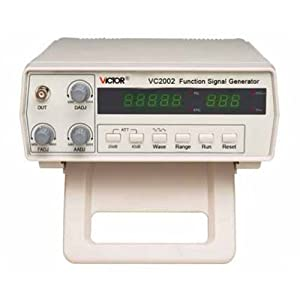 VICTOR VC2002 Générateur de signaux de fonction avec 8 gammes de fréquences 0.2Hz-2MHZ de Grand écran LCD