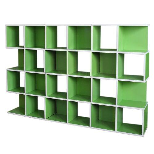 3x Modul-Regal Standregal M73, 124x187x28 cm ~ grün günstig online kaufen