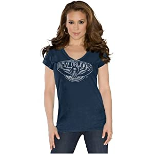 New Orleans Pelicans Ladies Field Goal V-Neck T-Shirt - Touch by Alyssa Milano by Touch Alyssa Milano