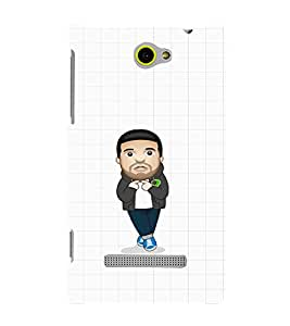 EPICCASE Cool Guy with Beard and tail Mobile Back Case Cover For HTC Windows Phone 8S (Designer Case)