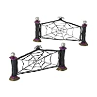 Dept 56 Halloween Village Wicked Web Fence Set of 7