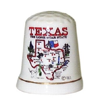 Texas Thimble State Map Case Pack 96