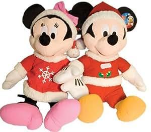 Disney Mickey & Minnie Mouse /w Holiday Sweaters Beanie Plush Bundle