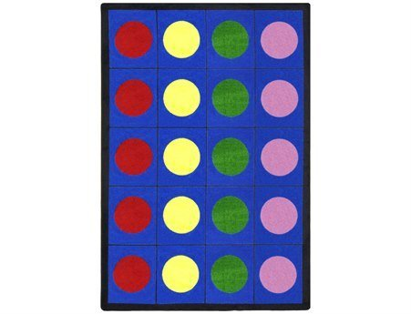 "Joy Carpets Kid Essentials Early Childhood Lots of Dots Rug, Multicolored, 10'9"" x 13'2"""