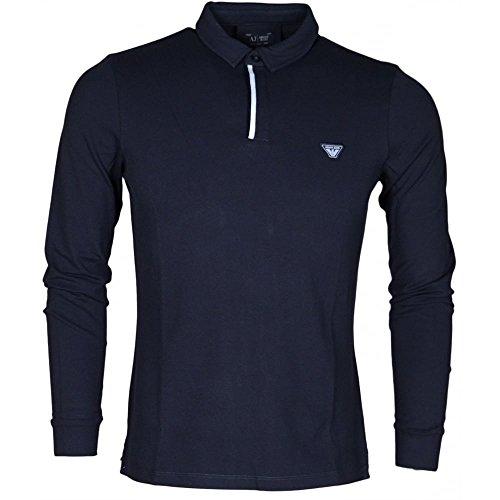 Armani Jeans Camicia Polo a maniche lunghe XXL Blu