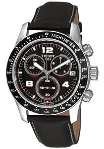 Mens Watch Tissot T0394171605702 V8 Stainless Steel Quartz Chronograph V8 Black