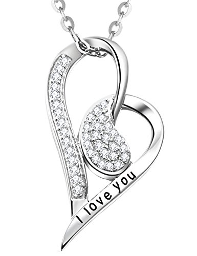 Elda-Co-Jewelry-for-Women-Sterling-Silver-I-Love-You-Engraved-Full-of-Love-Heart-Pendant-Necklace-with-18-Rolo-Chain-Precious-Diamond-Pendant-With-Cubic-Zirconia-Gems-Perfect-Present-Idea-For-Her