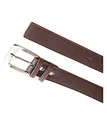 Kesari's Brown Leather Single Belt For Men (BRAZIL-35-BROWN)