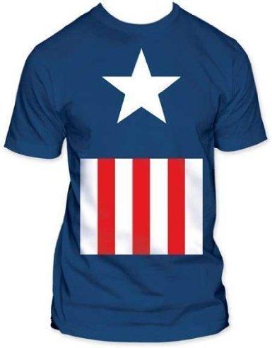 Captain Suit キャプテンアメリカ ソフトタイプ Tシャツ マーベル アメコミ Captain America Marvel 並行輸入