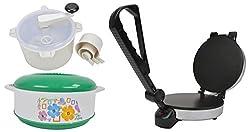 Kitchen Queen 1000 Watt Electric Rotimaker Combo (Roti Maker,Atta Maker,Free Hotpot)