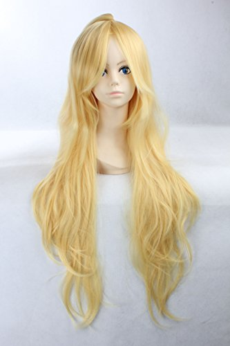 Cosplay Wig Blonde Wig Extra Long Blonde Curly Wig Stocking Panty Wigs