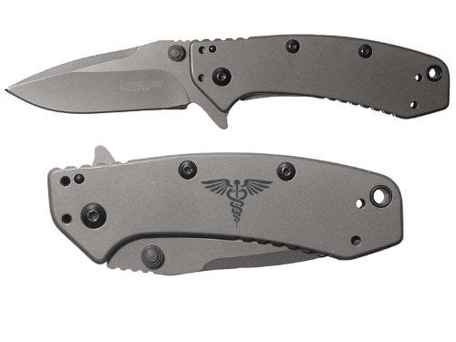 Star Of Life Medical Ems Emt Engraved Kershaw Cryo 1555Ti Folding Speedsafe Pocket Knife By Ndz Performance
