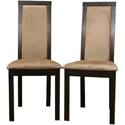 Metro Shop Pollard Dark Brown Dining Chairs (Set of 2)