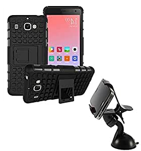 Aart Hard Dual Tough Military Grade Defender Series Bumper back case with Flip Kick Stand for Samsung S7 + Car Mobile Holder Mount Bracket Holder Stand 360 Degree Rotating by Aart store.