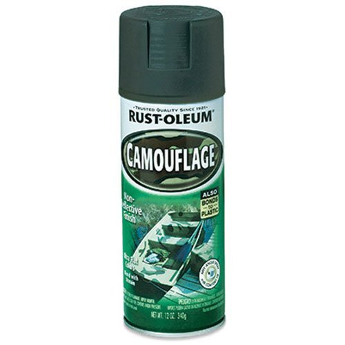 Rust-Oleum 1919830 Camouflage Spray, Deep Forest Green, 12-Ounce (Olive Drab Spray Paint compare prices)