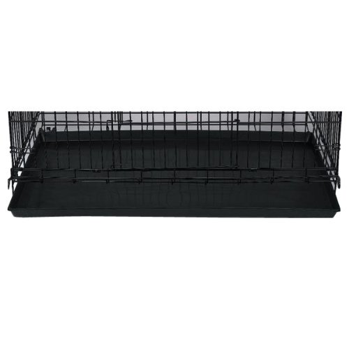 Proselect 35-Inch Plastic Tray Replacement For Cat Cage, Black front-1026478