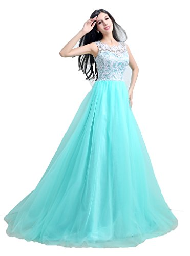 KAY&LAYLA Long Gown Beaded with Straps 2015 Lace Pageant Gown for Girls