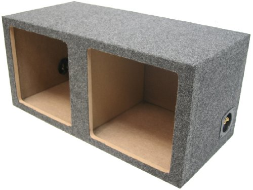 "Asc Dual 15"" Subwoofer Kicker Square L3 L5 L7 Sealed Sub Box Speaker Enclosure"