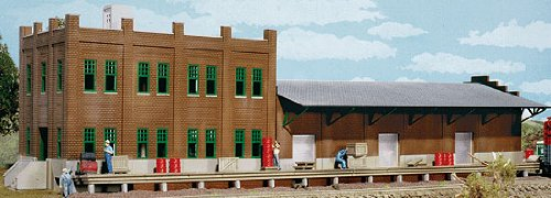 Walthers Cornerstone Ho Scale Water Street Freight Term Structure Kit front-1024871