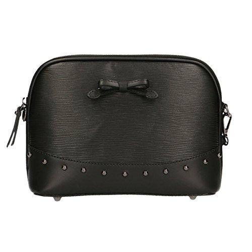 Chicca Borse borsa da donna borsetta da sera vera pelle made in italy 26x19x8 Cm