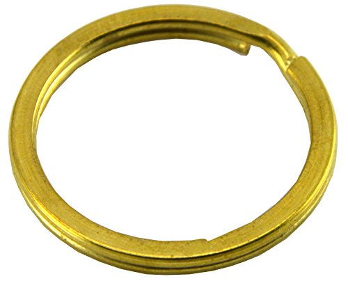 Okones 4 Multi-Sizes Leather handmade Factory Flat Split Solid Brass Antique Key Ring Pack of 20 (1'' 25mm) (Solid Brass Split Ring compare prices)