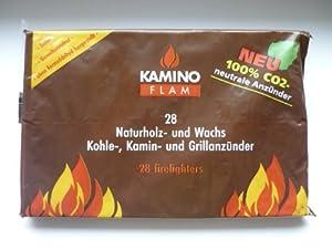 1 Paket / 28 Stück Kaminanzünder Ofenanzünder Grillanzünder aus Naturholz und Wachs / 100% CO2 neutral !