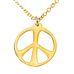 Medium Peace Symbol Gold-dipped on 18