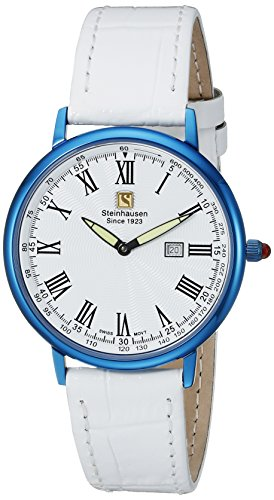 Steinhausen Men's GWL493UWWA Dunn Luxe Analog Display Swiss Quartz White Watch