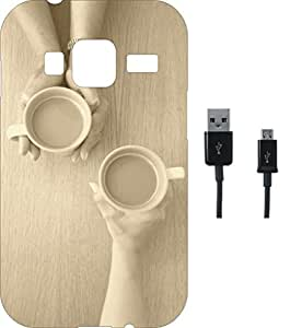 BKDT Marketing Beautifully printed Soft Back cover for Samsung Galaxy Z1 With Charging Cable
