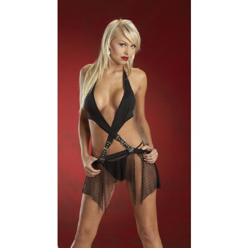 Halter Dress with Buckles (Women's Adult Costume)