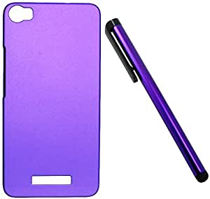 FCS Rubberised Hard Back Case For Lava Iris X8 With Capacitive Touch Screen Stylus