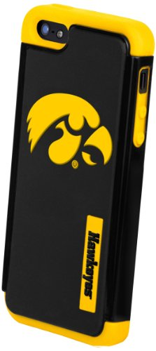 Best Price Forever Collectibles NCAA Iowa Hawkeyes Dual Hybrid Hard Apple iPhone 5 / 5S Case