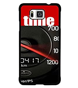 PrintDhaba Meter D-4118 Back Case Cover for SAMSUNG GALAXY ALPHA (Multi-Coloured)